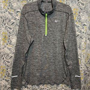 NIKE Womens XL Gray 1/4 Zip Pacer